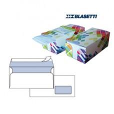 Busta bianca con finestra - serie Mailpack - certificazione FSC - strip adesivo - 110x230 mm - 90 gr - Blasetti - dispenser da 150 pezzi
