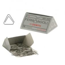 Fermangoli Zenith 815 - acciaio inox - Zenith - conf. 50 pezzi