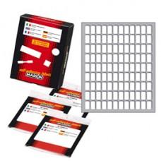 Etichetta adesiva - permanente - rettangolare - 14x8 mm - 108 etichette per foglio - 10 fogli per busta - bianco - Markin