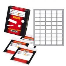 Etichetta adesiva - permanente - rettangolare - 21x14 mm - 45 etichette per foglio - 10 fogli per busta - bianco - Markin