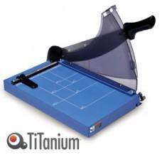 Taglierina a leva - A4 - 445x282 mm - 360 mm (A4) - capacitA' taglio 40 fg - con blocca lama - blu - Titanium