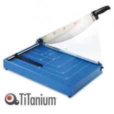 Taglierina a leva 3042 - A3 - 545x382 mm - 460 mm (A3) - capacitA' taglio 40 fg - con blocca lama - blu - Titanium