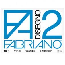 Album F2 -24x33cm - 10 fogli - 110gr - liscio - punto metallico - Fabriano