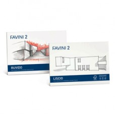Album Favini 2 - 33x48cm - 110gr - 10 fogli - ruvido - Favini