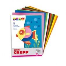 Gomma Crepp - 20 x 30 cm - colori assortiti - Deco - conf. 10 fogli