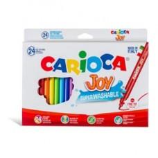 Pennarelli Joy - punta 2,6mm - colori assortiti - lavabili - Carioca - scatola 24 pezzi