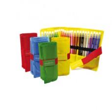 Astuccio RollUp - punta doppia fine e media - colori assortiti - Carioca -  conf. 24 pezzi