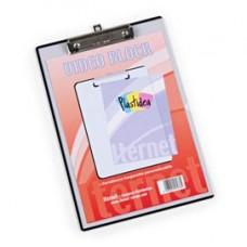 Portablocco in PPL con molla in metallo personalizzabile - A4 - trasparente - Iternet