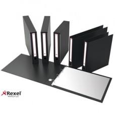 Portatabulati KM UNI - con custodia - 12''x28 cm - dorso 5 cm - nero - Rexel