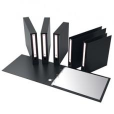 Portatabulati KM UNI - senza custodia - 12''x28cm - dorso 5,5 cm - nero - Rexel