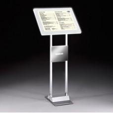 Leggio da pavimento Menu Board LEDMAG - cornice A4 retroilluminata a LED - altezza 110 cm - Tecnostyl