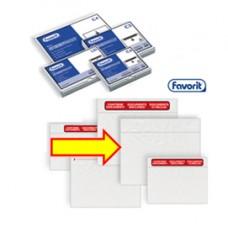 Busta adesiva Speedy Doc - neutro senza stampa - formato C5 (230x165 mm) - Favorit - conf. 1000 pezzi