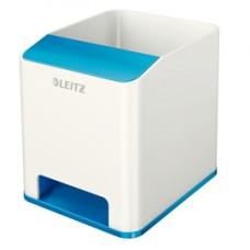 Portapenne con amplificatore WOW - 9x10x10 cm - blu - Leitz