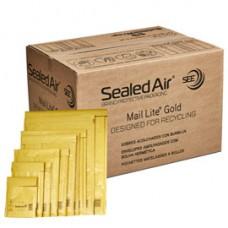 Busta imbottita Mail Lite  Gold - formato D (18x26 cm) - avana - Sealed Air  - confezione risparmio da 100 pezzi