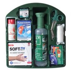 Kit di pronto soccorso K9 - 3 in1 (lavaggio oculare, ustioni, medicazioni) - 34x8x38 cm - verde - PVS