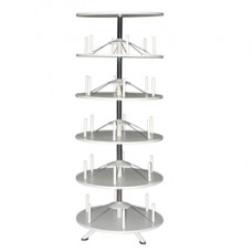 Archiviatore girevole RondO' - 5 ripiani - diametro 80,5 cm - altezza 205 cm - grigio - Bertesi