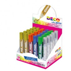 Colla glitter - 10,5 ml - colori assortiti metal - Deco - display 30 pezzi