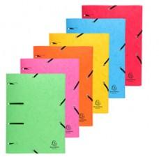 Cartellina 3 lembi forata - con elastico Punchy - cartoncino lustrE' - A4 - colori assortiti - Exacompta