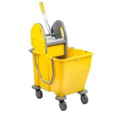Carrello a doppia vasca Pressduo - 60x36x82 cm - 15+15 litri - con strizzatore e ruote pivottanti - Medial International