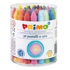 Pastelli a cera - D 10,5x100mm - Primo - barattolo 36 colori