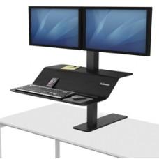 Postazione di lavoro VE Sit Stand Lotus - monitor doppio - Fellowes