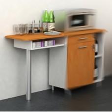 Allungo angolo Ristoro - punto caffE' - 60x45x84 cm - bianco/noce chiaro - Artexport