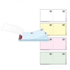 Blocco numerato (1/100) - colori assortiti - 13 x 6 cm - BM