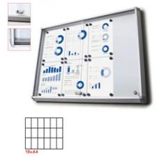 Bacheca per interni - magnetica - 18 fogli A4 - ante scorrevoli - Studio T