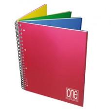 Blocco One Color 4 x 4 - A4+ - forato - 5 mm / 1 rigo - 120 fogli - 80 gr - spiralato - Blasetti