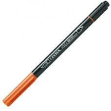 Pennarello Aqua Brush Duo - punte 2/4 mm - arancio - Lyra