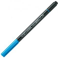Pennarello Aqua Brush Duo - punte 2/4 mm - azzurro - Lyra
