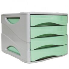 Cassettiera keep Colour Pastel - 25x32 cm - cassetti 5 cm - grigio/verde - Arda