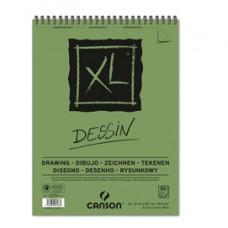 Album spiralato lato corto XL drawing - A4 - 160 gr - 50 fogli - Canson