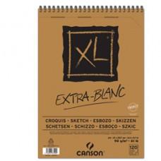 Album spiralato lato corto XL - A4 - 90 gr - 120 fogli - extra white - Canson