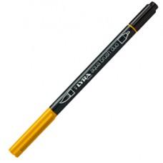 Pennarello Aqua Brush Duo -  punte 2/4 mm - giallo cromo scuro - Lyra