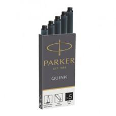 Cartucce quink permanente - nero - Paker - scatola 5 pezzi