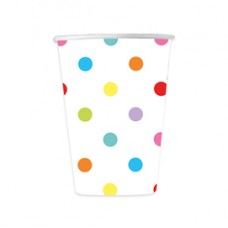 Biccchieri - multicolor - pois - Big Party - conf. 8 pezzi