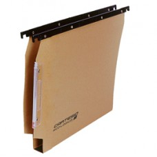 Cartella sospesa armadio Cartesio  - 33 cm - fondo U 30 mm - 32,6x28 cm - avana - Bertesi
