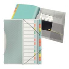 Classificatore colour'lce - 12 divisori - dorso 2 cm - 26,6x32 cm - multicolore - Esselte