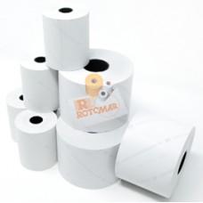 Rotolo per bilancia - carta termica BPA free - 62,5 mm x 30 mt - diametro esterno 50 mm - anima 12 mm - Rotomar - blister 10 pezzi