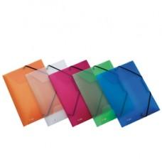 Cartella 3L con elastico Lumina - 24x32cm - trasparente - D 2,5 - Favorit