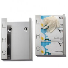 Dispenser guanti monouso - acciaio inox - Medial International