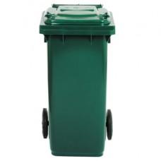 Bidone carrellato - 48x55x93 cm - 120 L - verde scuro - Mobil Plastic