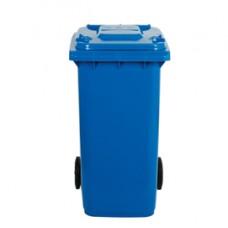 Bidone carrellato - 58x73x107 cm - 240 L - blu - Mobil Plastic
