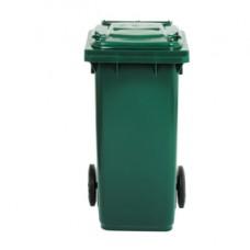 Bidone carrellato - 58x73x107 cm - 240 L - verde scuro - Mobil Plastic