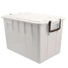 Contenitore Foodbox con coperchio - 58x38x38 cm - 60 L - PPL riciclabile - bianco - Mobil Plastic
