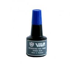 Inchiostro per cuscinetti  - a base alcool -  30gr - blu - Viva