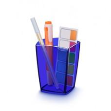Bicchiere portapenne 530H - 7,4x7,4x9,5 cm - electric blue - Cep
