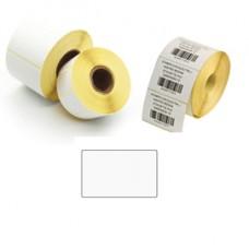 Etichette per trasferimento termico diretto - 50x30 mm - 2 piste - adesivo removibile - Printex - rotolo da 5000 pezzi
