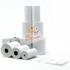 Rotolo per POS - carta termica BPA free -  57 mm x 8,5 mt - diametro esterno 25 mm - 55 gr - diametro interno 6 mm (senza anima) - Rotomar - blister 12 pezzi